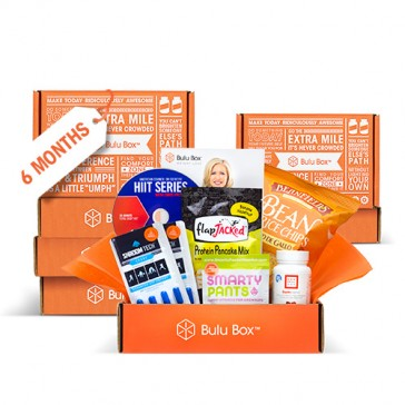Give someone the gift of of health! For six months, they'll receive a Bulu Box filled with 4 to 5 premium, curated samples from top brands. Look forward to a new mix of products for both women and men, including vitamins, weight loss, sports nutrition, pr