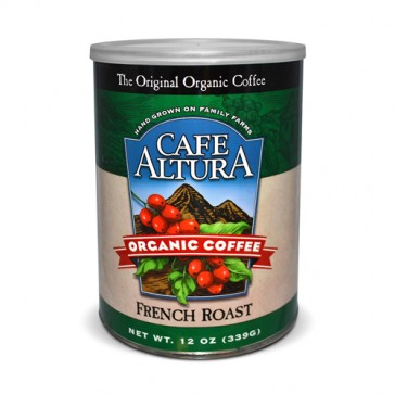 Café Altura French Roast Canned Organic Coffee   Bulu Box - Sample Superior Vitamins and Supplements