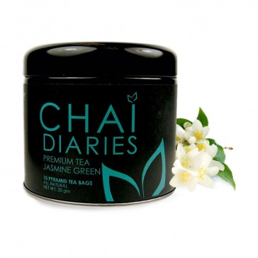 Chai Diaries Organic Jasmine Green Tea  | Bulu Box - Sample Superior Vitamins and Supplements