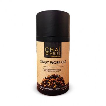 Chai Diaries Organic Zingy Workout Pu'erh Tea  | Bulu Box - Sample Superior Vitamins and Supplements