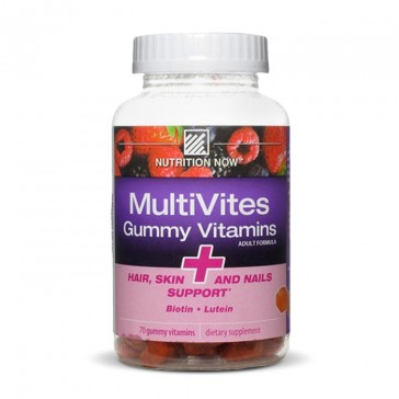 Nutrition Now MultiVites Gummy Vitamins + Hair Skin and Nails Support   Bulu Box - sample superior vitamins and supplements