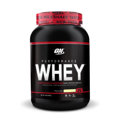 Optimum Nutrition Performance Whey Vanilla 2lb   Bulu Box - sample superior vitamins and supplements