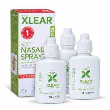 Xlear Saline Nasal Spray with Xylitol - .75 Fl Oz (3 Pack) | Bulu Box - Sample Superior Vitamins and Supplements